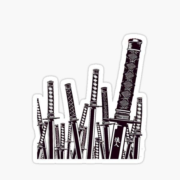 Épées samouraïs Sticker