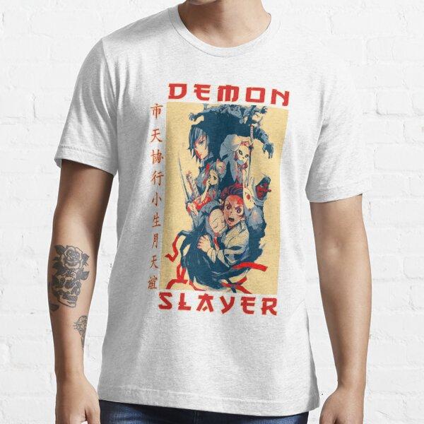 Retro Demon Slayer Japanese Adventure Anime Poster Essential T-Shirt