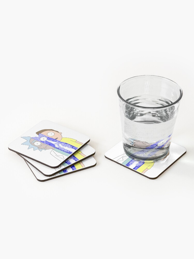 Alternate view of Rick and Morty in half Coasters (Set of 4)