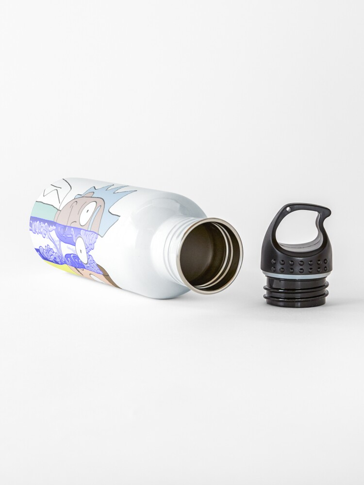 Alternate view of Rick and Morty in half Water Bottle