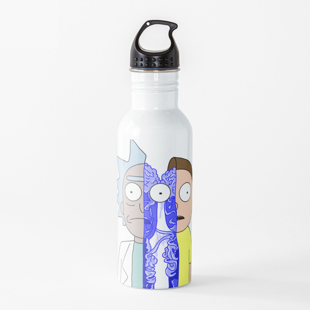 Rick and Morty in half Water Bottle