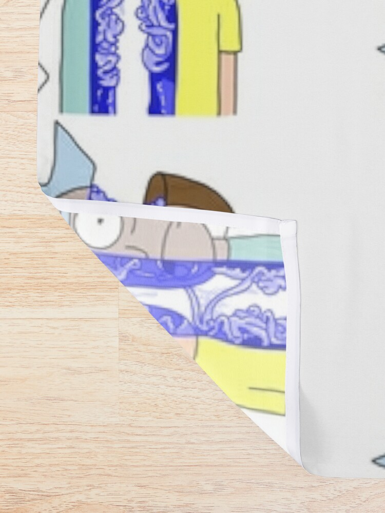 Alternate view of Rick and Morty in half Shower Curtain