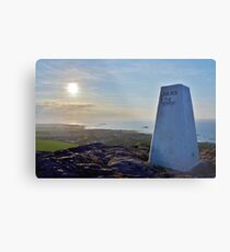 """Live For The Moment"" - On top of Berwick Law, East Lothian, Scotland  Metal Print"