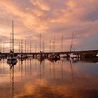 Fisherrow Harbour at dusk, East Lothian, Scotland by Shona McMillan