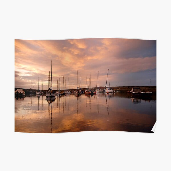 Fisherrow Harbour at dusk, East Lothian, Scotland Poster