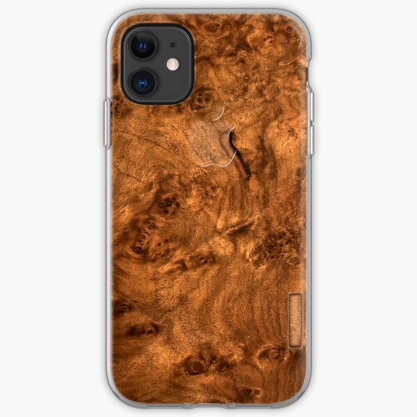 Walnut wood cover iPhone Soft Case