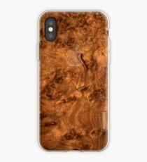 Vinilo o funda para iPhone Cubierta de madera de nogal