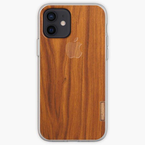 Oak wood cover iPhone Soft Case