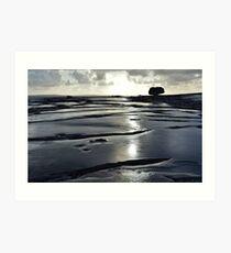 After the rain, the Burren in bright sunlight, Co Clare, Ireland Art Print