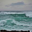 The Wild Atlantic Ocean of the coast of Doolin, Co Clare, Ireland by Shona McMillan