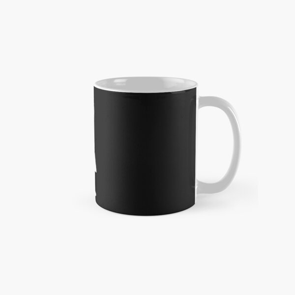 The Girl with the Curly Hair Holding Cat - Dark Grey Classic Mug