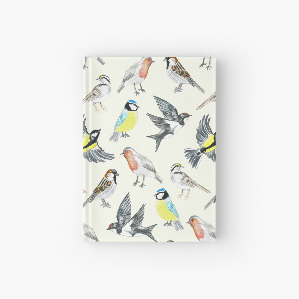 Illustrated Birds Hardcover Journal