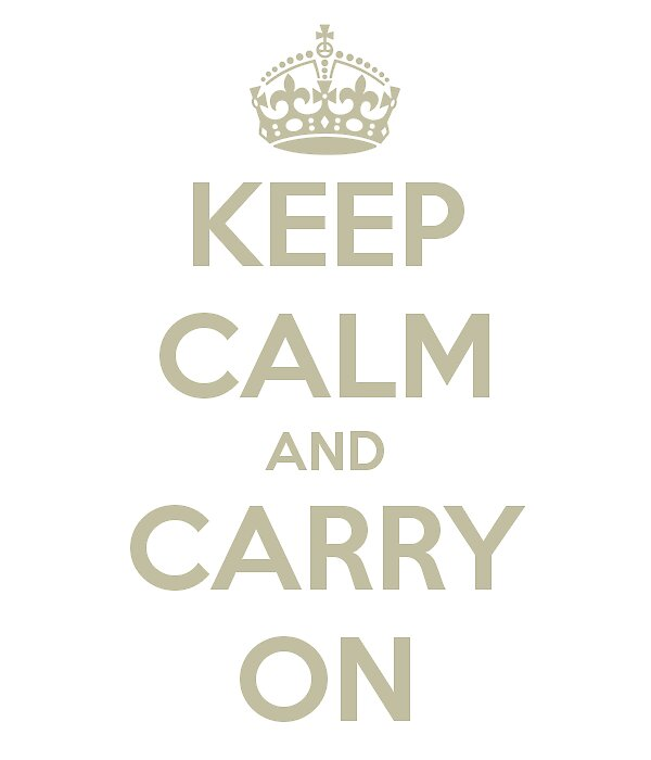Keep calm and carry on by acifuentes