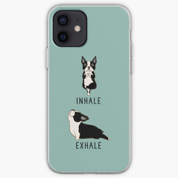 Inhale Exhale Boston Terrier Yoga iPhone Soft Case