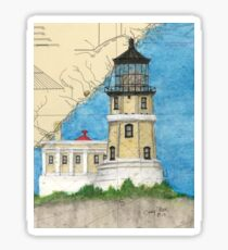 Split Rock Lighthouse MN Nautical Map Cathy Peek Sticker