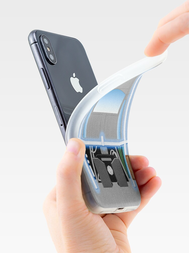 Alternative Ansicht von Back to the Future De Lorean iPhone-Hülle & Cover