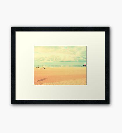 South Haven, MI | South Beach Framed Print