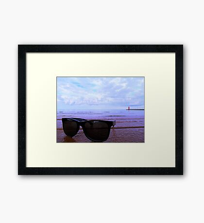 South Haven, MI | South Beach 4 Framed Print