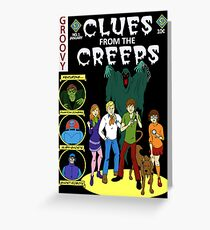 Clues From the Creeps Greeting Card