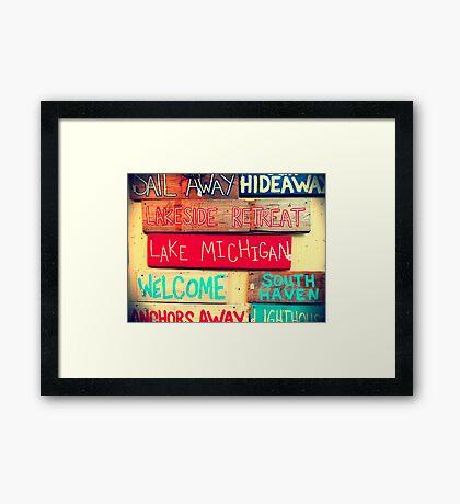 South Haven, MI | Antiques Framed Print