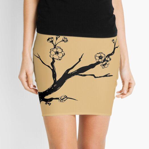Cherry blossom branch Mini Skirt