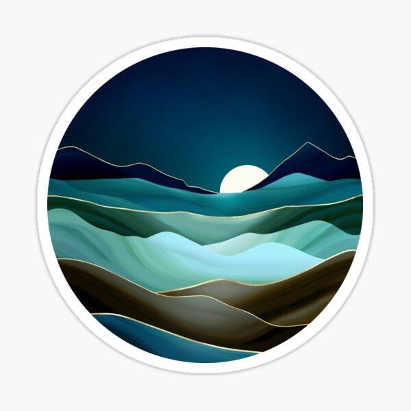 Moonlit Vista Sticker