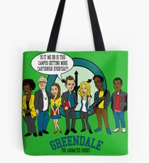 Greendale the Animated Series Tote Bag