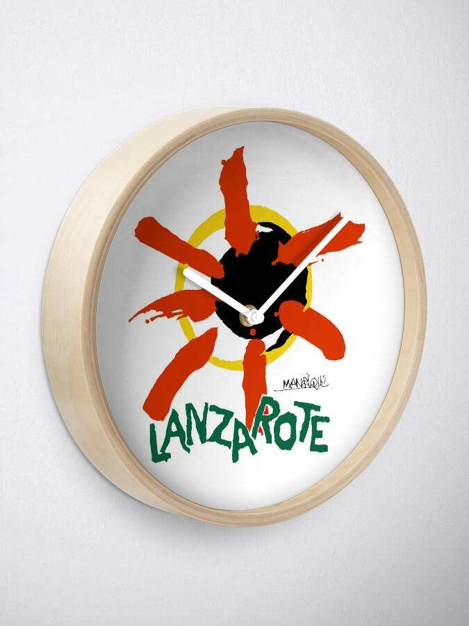 Alternate view of Lanzarote - Large Logo Clock