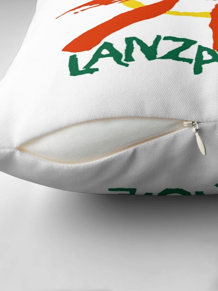Alternate view of Lanzarote - Large Logo Throw Pillow