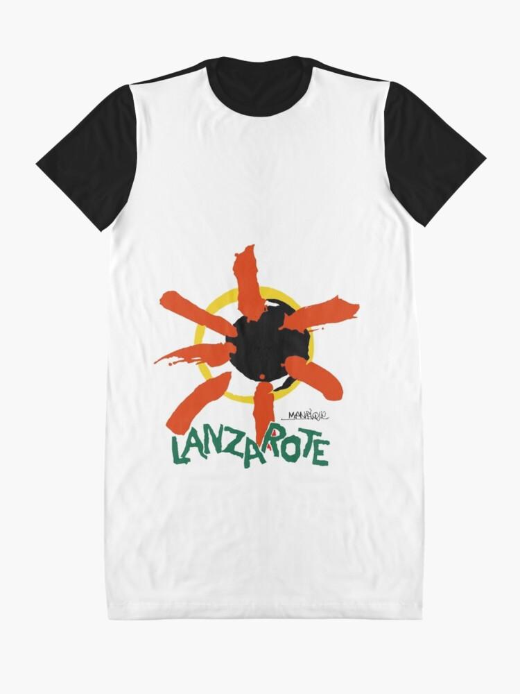 Alternate view of Lanzarote - Large Logo Graphic T-Shirt Dress