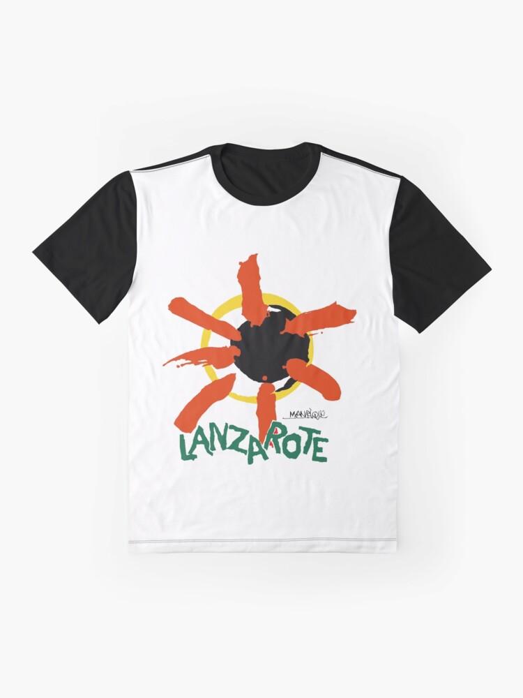 Alternate view of Lanzarote - Large Logo Graphic T-Shirt