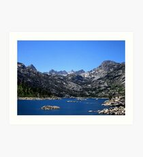 Lake Sabrina In The Summer Art Print