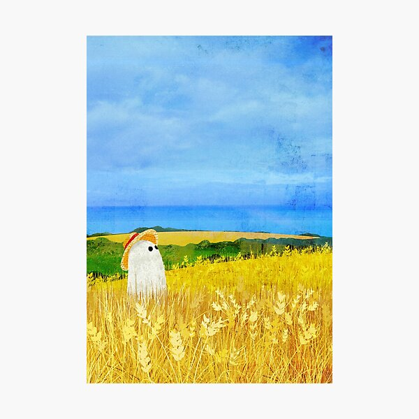 There's a Ghost in the Wheat Field Photographic Print