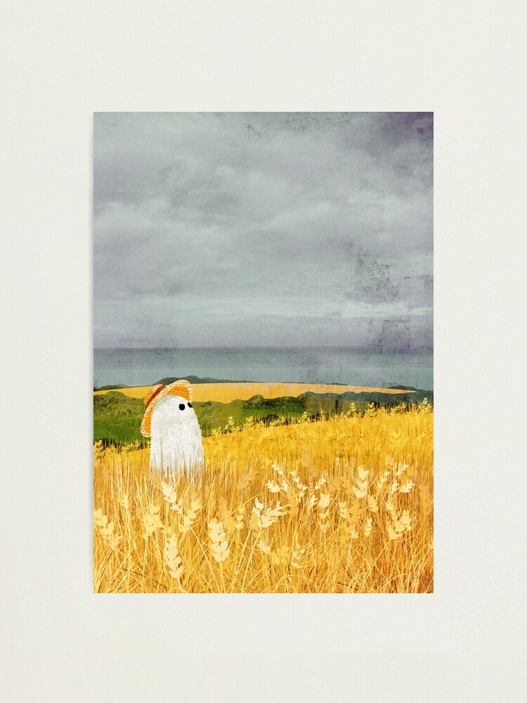 Alternate view of There's A Ghost in the Wheat field again... Photographic Print