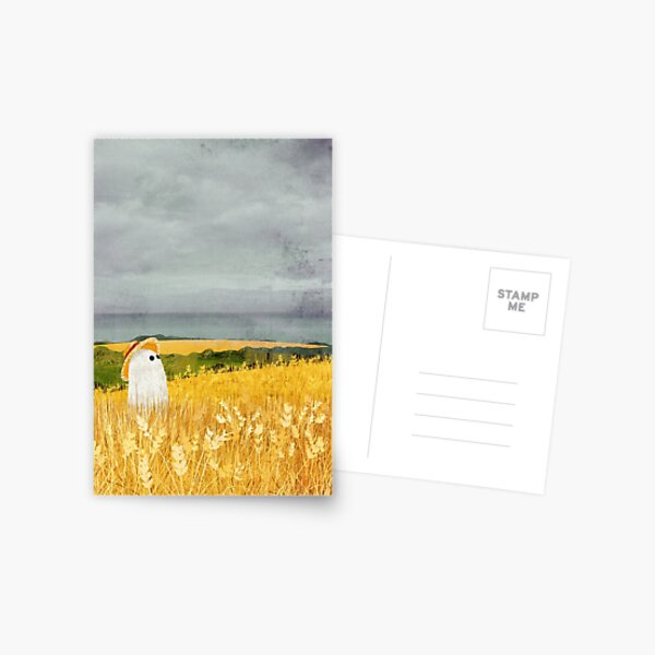 There's A Ghost in the Wheat field again... Postcard