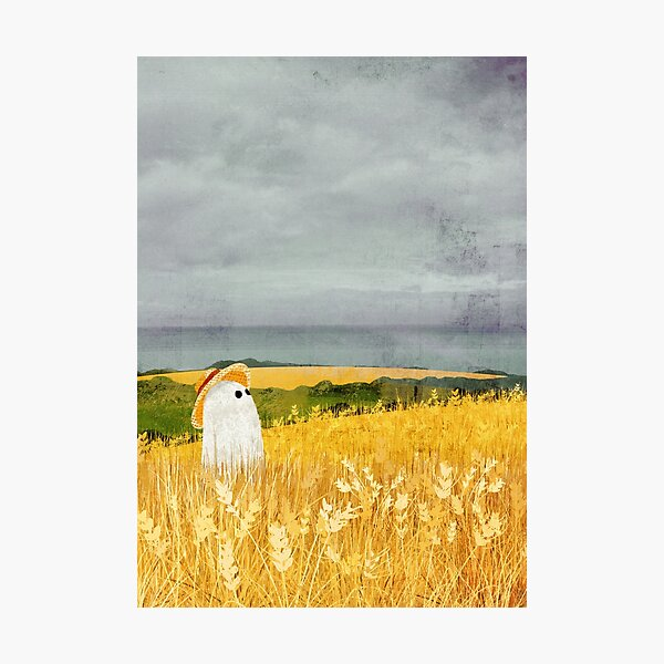 There's A Ghost in the Wheat field again... Photographic Print