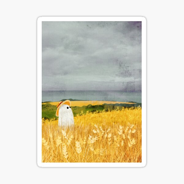 There's A Ghost in the Wheat field again... Sticker