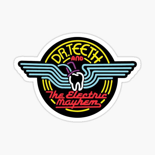 Dr.Teeth y el caos eléctrico - Color Pegatina