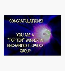 Banner - Enchanted Flowers Top Ten Winner Photographic Print