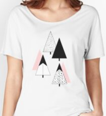 Pine Trees Pink Women's Relaxed Fit T-Shirt