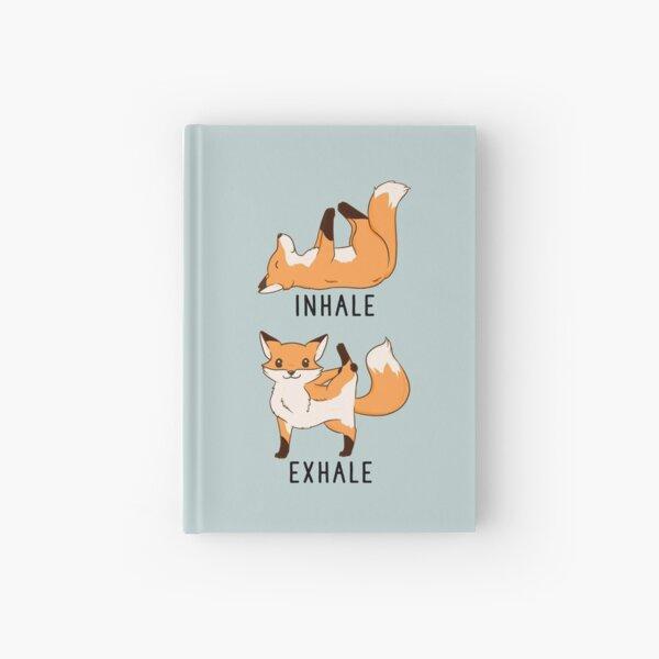 Inhale Exhale Fox Yoga Hardcover Journal