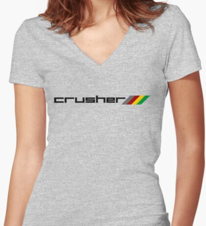 Crusher Women's Fitted V-Neck T-Shirt