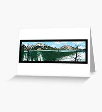 "101. ""The Lodgepole Pines at Jenny Lake, Grand Tetons National Park.""  Greeting Card"