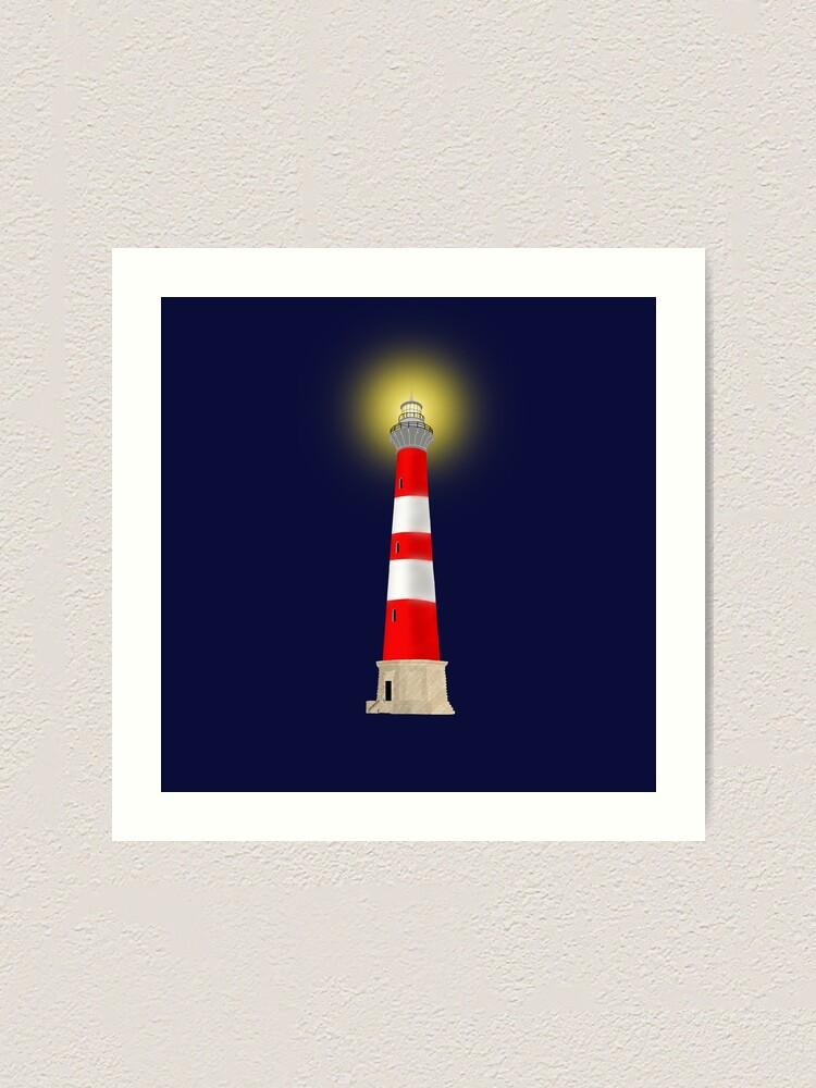 Alternate view of Lighthouse Art Print