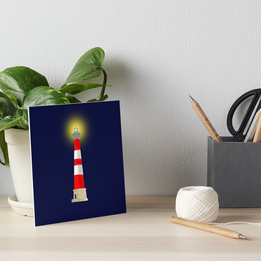 Lighthouse Art Board Print