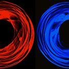 RED AND BLUE SILK by Paul Quixote Alleyne
