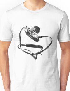 Digital camera isolated on white background DSLR Unisex T-Shirt