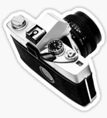 Digital camera isolated on white background DSLR on T-Shirt Sticker