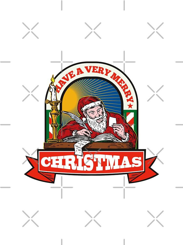 Santa Claus Father Christmas Writing Letter by patrimonio