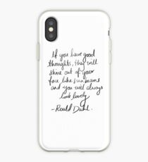 Roald Dahl inspirational tumblr quote merch! iPhone Case